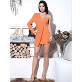 Oh So Clueless Coral Red Irregular One Sleeve Mini Dress - Fashion Genie Boutique