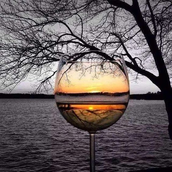 Indian Lake Ohio Wine Glass Sunset Photograph by Original Photographer Kathy Spiers