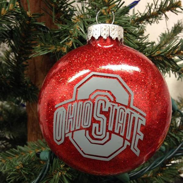 Holiday Christmas Tree Ornament College Football Ohio State Buckeye