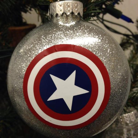 Holiday Christmas Tree Ornament Marvel Comic Superhero Captain America
