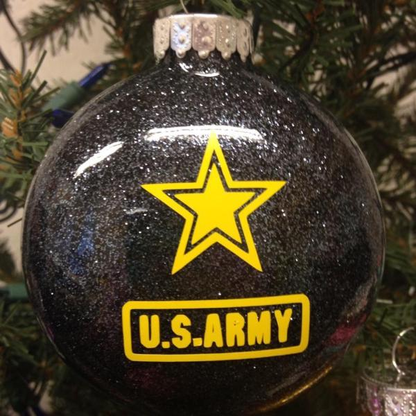 Holiday Christmas Tree Ornament Military Branch US Army