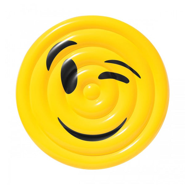 Pool Float Emoji Face Winking Water Toy