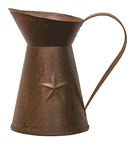 Rusty Tin Star Pitcher