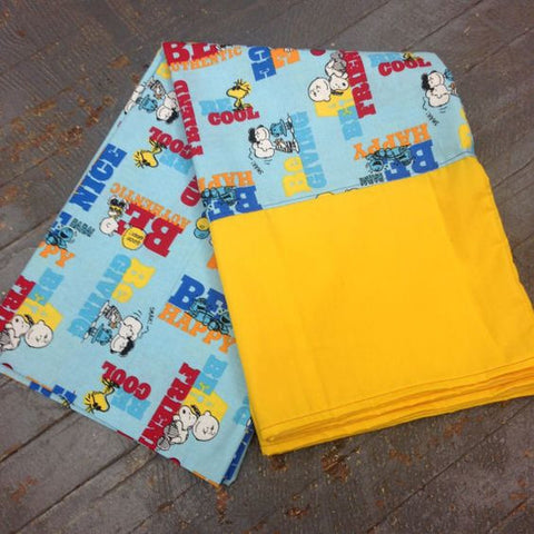 Pillowcase Charlie Brown Snoopy Peanuts Comic Be Happy Pillow Case Pair