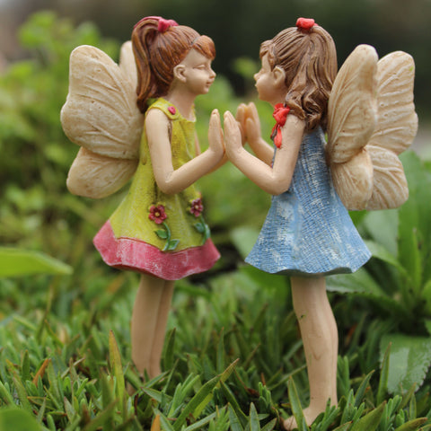 Fairy Garden Fairy Pixie Andrea and Amanda Statue Miniature