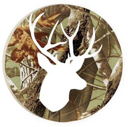 Car Coaster Set Buck Deer Camo