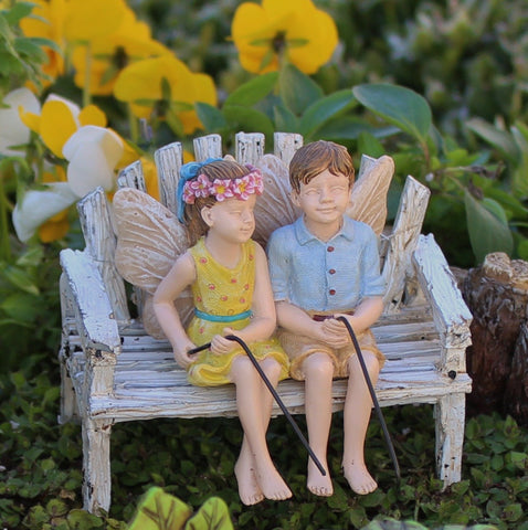 Fairy Garden Fairy Pixie Charlie and Tilly Statue Miniature