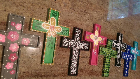 Wooden Cross Paint Night at The Depot