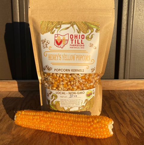 Henry's Yellow Popcorn Kernels Ohio Till Farmstead