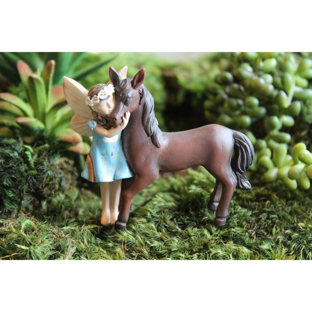 Fairy Garden Fairy Chelle and Champ Statue Miniature