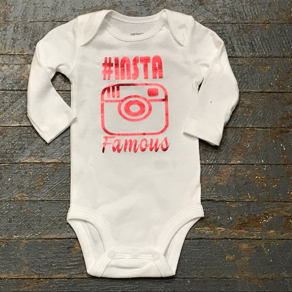 Insta Famous Foil Personalized Onesie Bodysuit One Piece Newborn Infant Toddler Outfit
