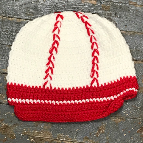 Crocheted Youth Toddler Child Winter Hat Baseball
