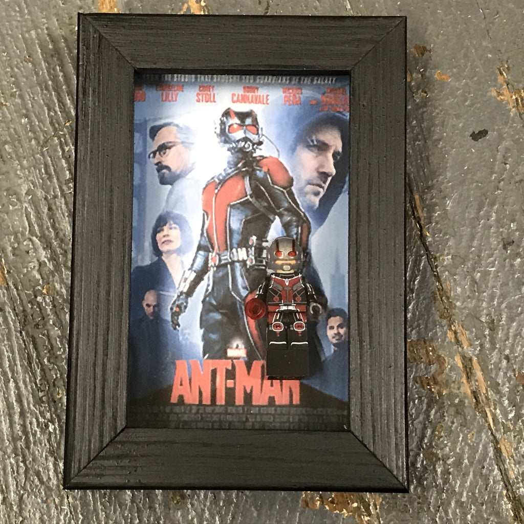 Ant Man Comics Lego Figurine Wall Display Picture Frame Toy Art