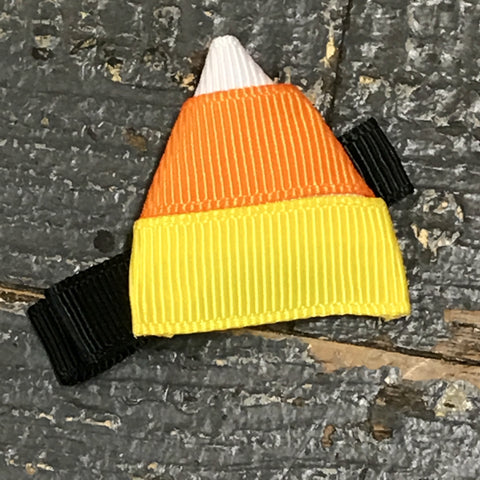 Hair Clip Ribbon Sculpture Headband Bow Holiday Halloween Candy Corn