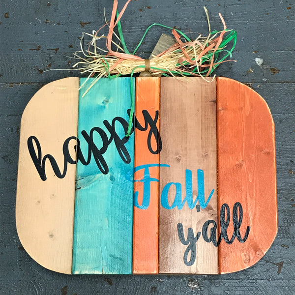 Wood Pallet Pumpkin Welcome Fall Decoration Happy Fall Yall