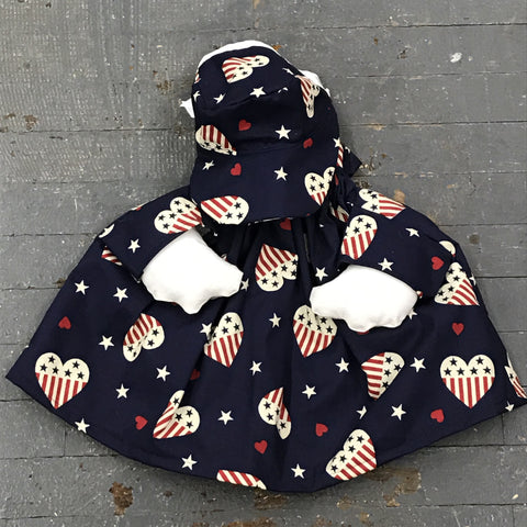 Goose Clothes Complete Holiday Goose Outfit American Hearts Dress and Hat