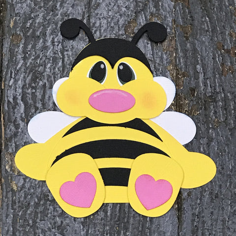 Paper Scrapbook Embellishment Gift Package Tag Baby Animal Bumble Bee