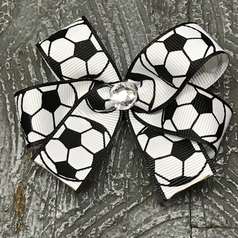 Hair Clip Ribbon Headband Bow Sports Soccer
