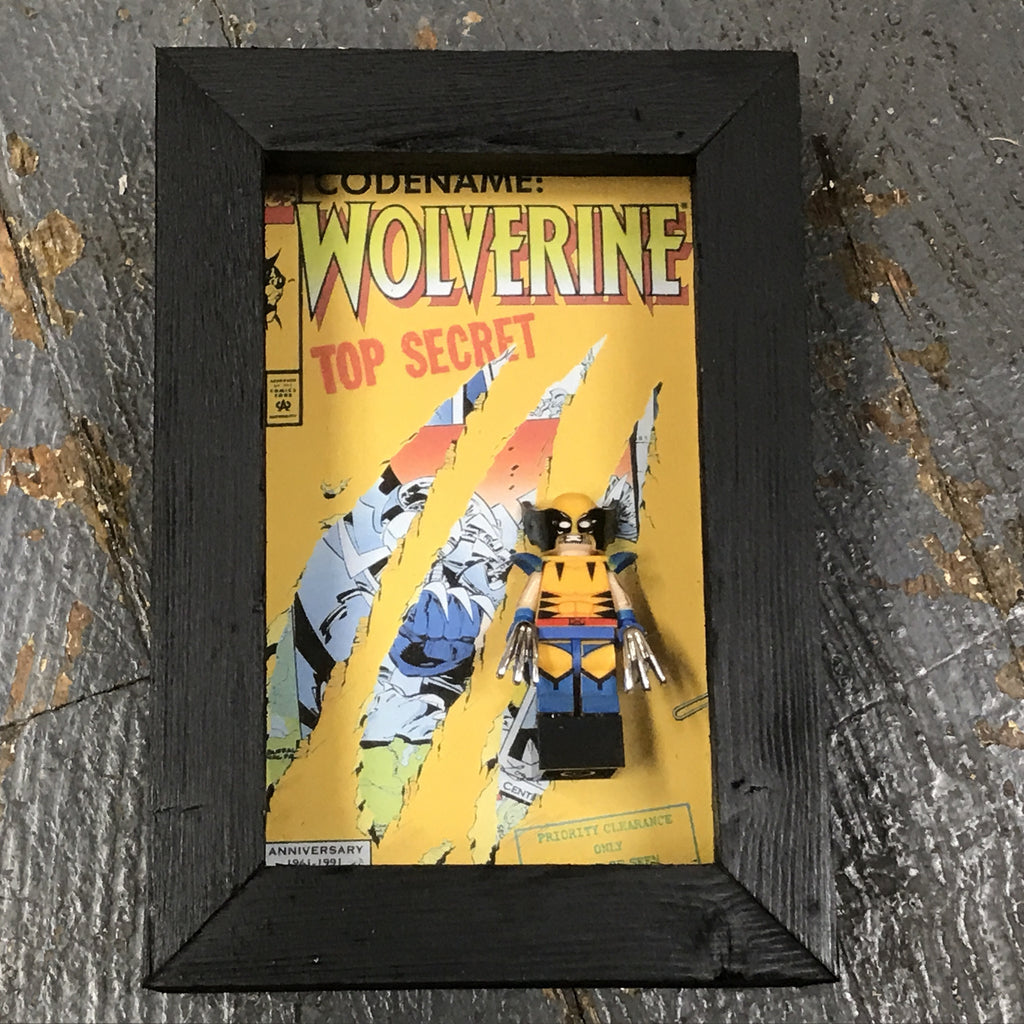 Wolverine Comic Lego Figurine Wall Display Picture Frame Toy Art