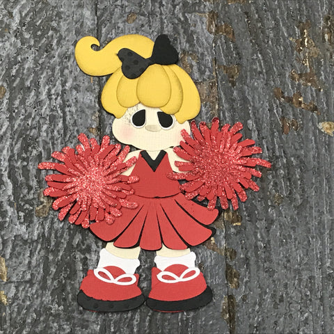 Paper Scrapbook Embellishment Gift Package Tag Cheerleader