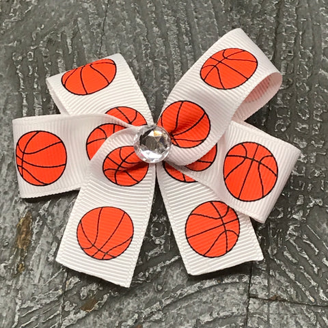 Hair Clip Ribbon Headband Bow Sports Basketball