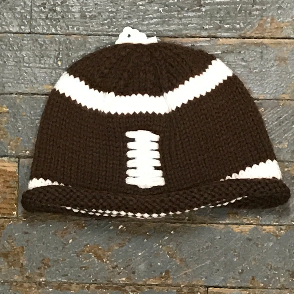 Crocheted Youth Toddler Child Winter Hat Football