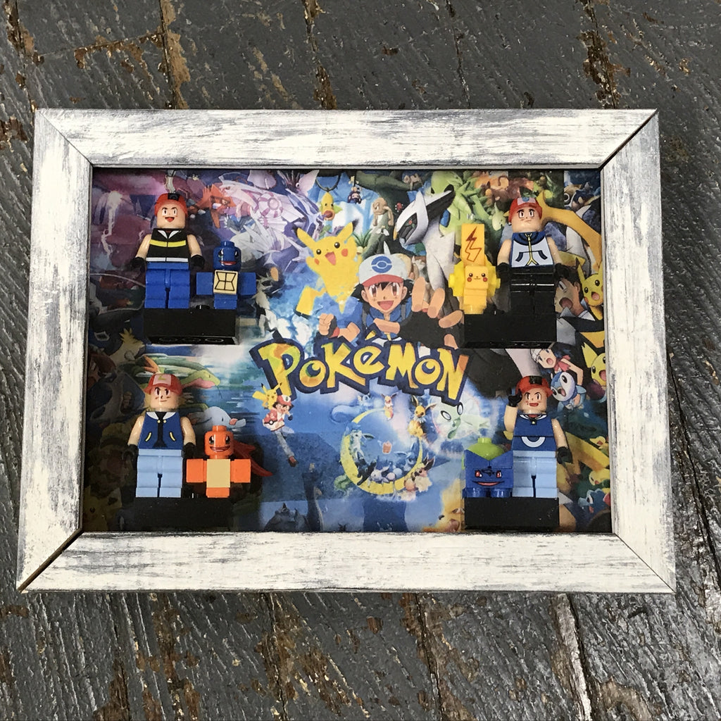 Pokemon Comics Lego Figurine Wall Display Picture Frame Toy Art