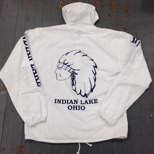Indian Lake Ohio Hood Windbreaker Jacket Back