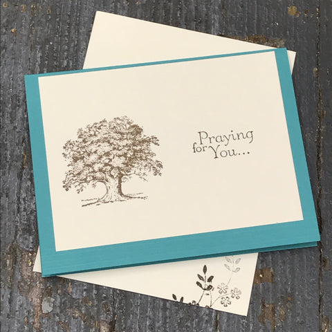 Get Well Sympathy Prayer Thinking of You Handmade Stampin Up Greeting Card with Envelope Front