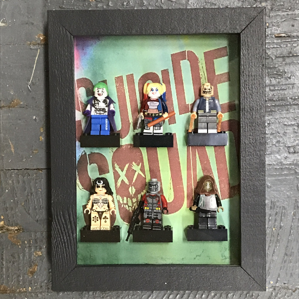 Suicide Squad Lego Figurine Wall Display Picture Frame Toy Art