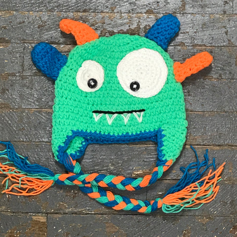 Crocheted Youth Toddler Child Winter Hat Monster