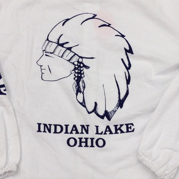 Indian Lake Ohio Hood Windbreaker Jacket Back Logo