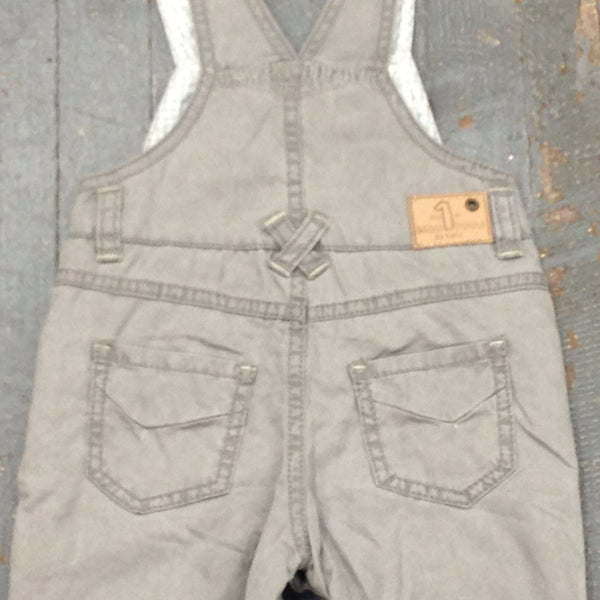 Kanz Newborn Infant Boys Play Together Style Grey Overall Bibs