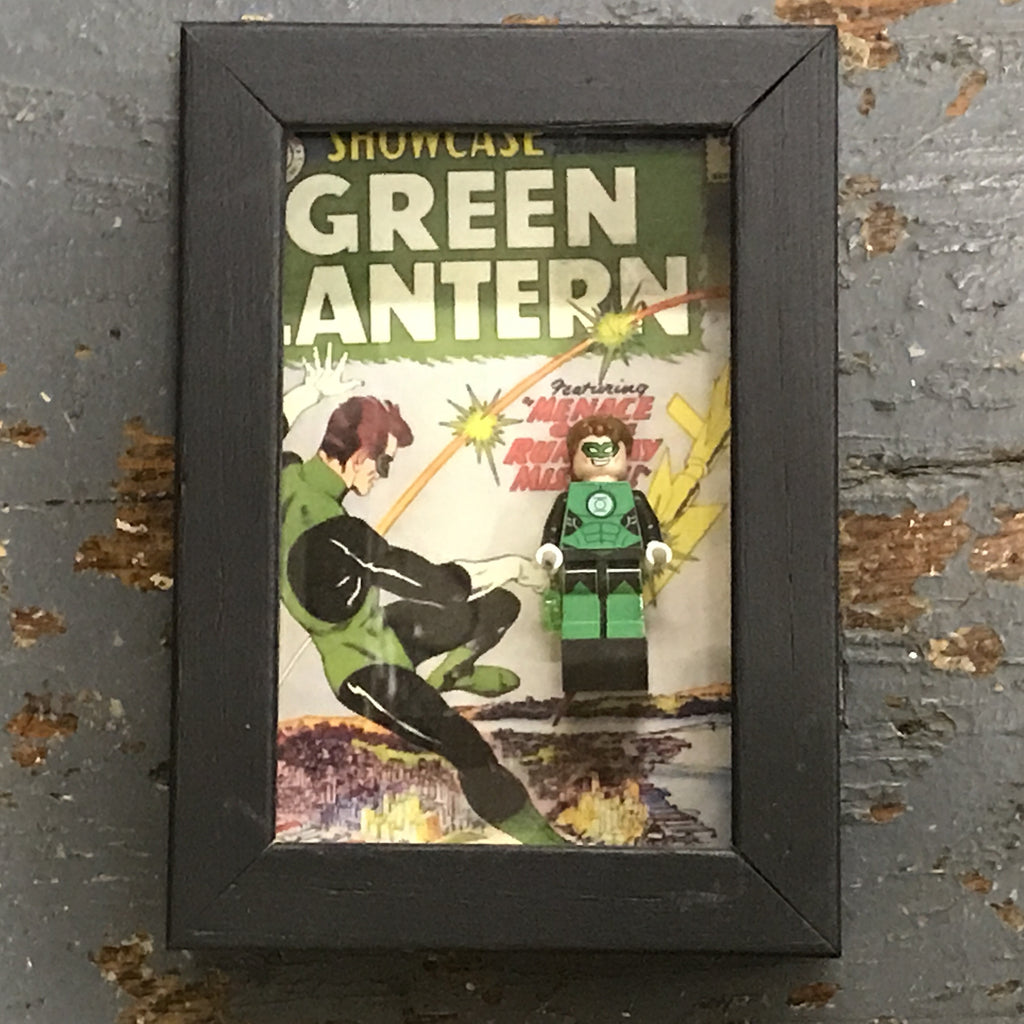 Green Lantern Comics Lego Figurine Wall Display Picture Frame Toy Art