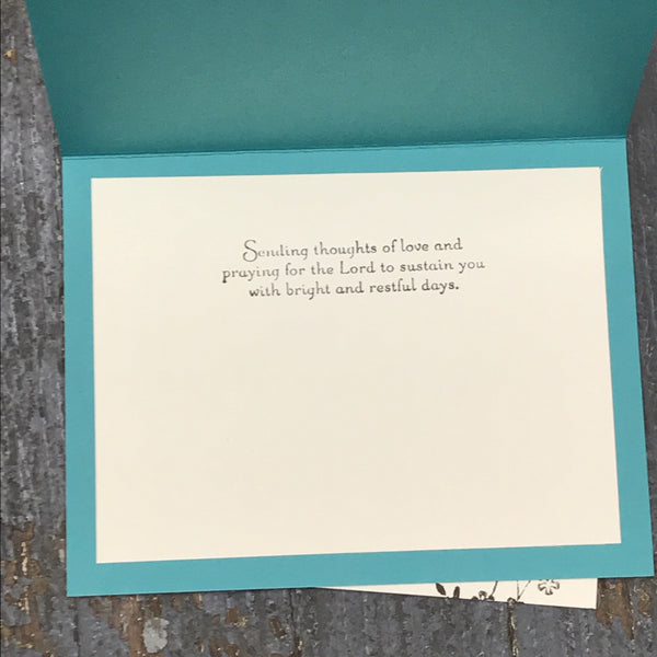Get Well Sympathy Prayer Thinking of You Handmade Stampin Up Greeting Card with Envelope Inside