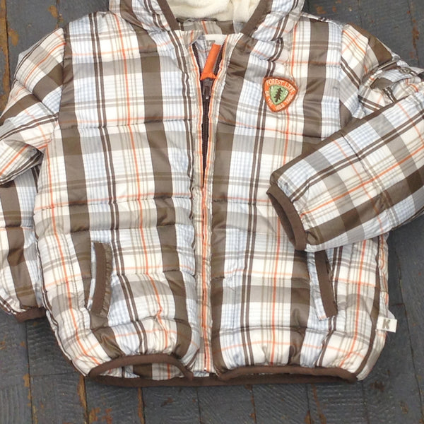 Kanz Newborn Infant Boys Woodland Style Striped Plaid Winter Hooded Coat Jacket