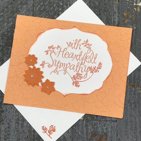 Sympathy Thinking of You Handmade Stampin Up Greeting Card with Envelope Front