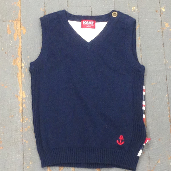 Kanz Newborn Infant Boys Overboard Style Navy Sailor Sweater Vest