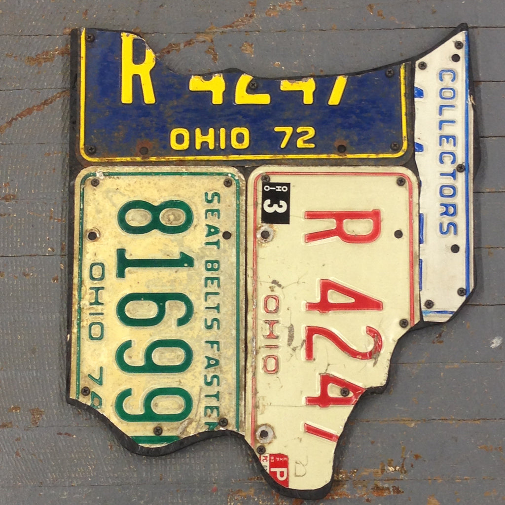 State of Ohio License Plate Art Small
