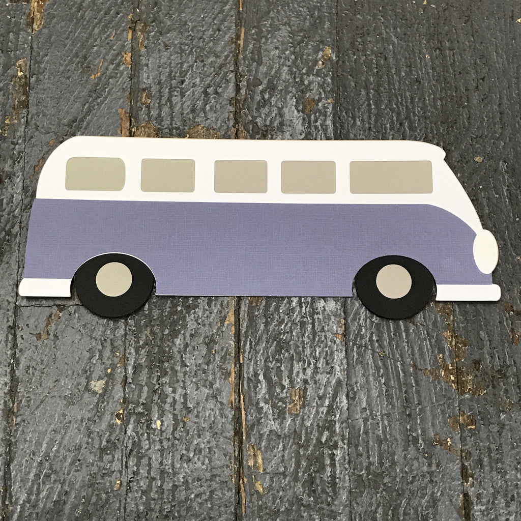 Volkswagen Bus Travel Trailer Handmade Cut Out Paper Scrapbook Embellishment Gift Package Tag