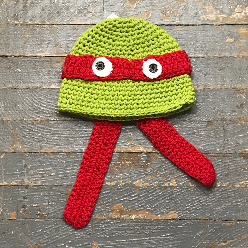 Crocheted Youth Toddler Child Winter Hat Teenage Mutant Ninja Turtle