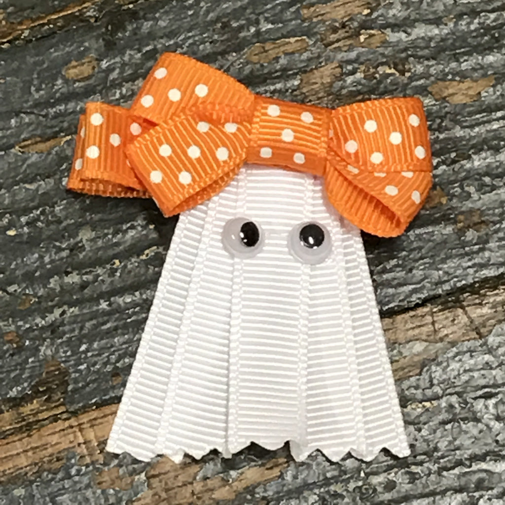 Hair Clip Ribbon Sculpture Headband Bow Holiday Halloween Ghost