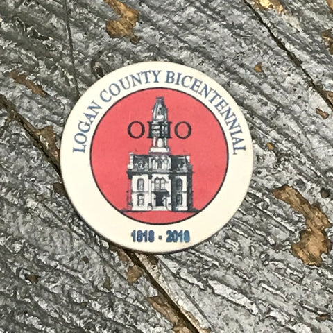 Poker Chip Tourist Collector Commemorative Logan County Bicentennial Coin Red