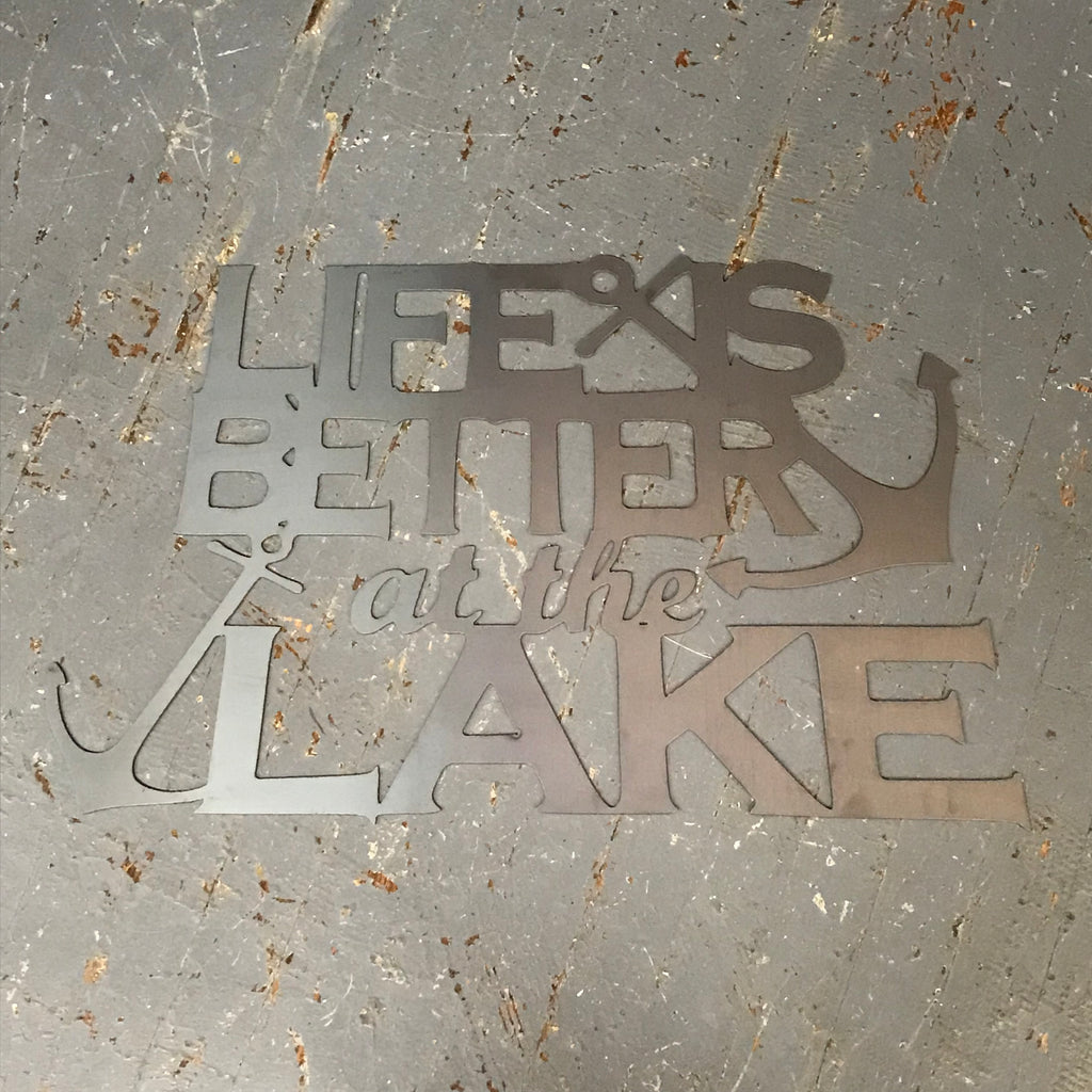 Life is Better at the Lake Metal Sign Wall Hanger