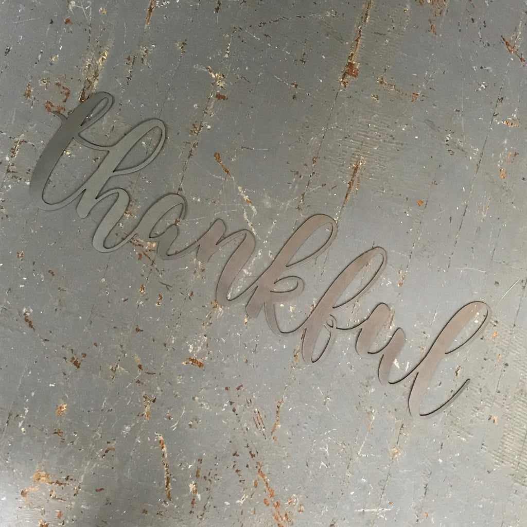 Thankful Word Metal Sign Wall Hanger