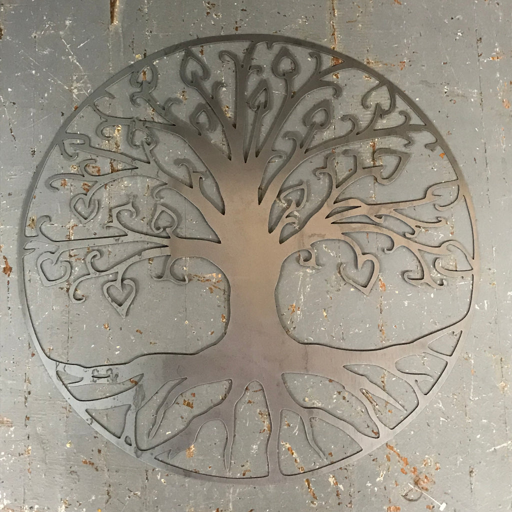 "Tree of Life 24"" Metal Sign Wall Hanger"