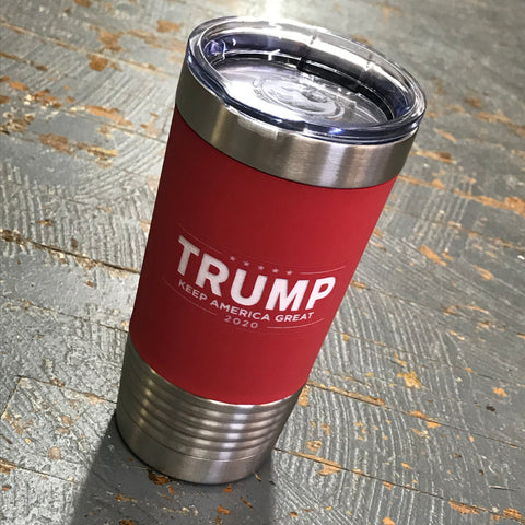 Trump 2020 Keep America Great Stainless Steel 20oz Wine Beverage Drink Travel Tumbler Red