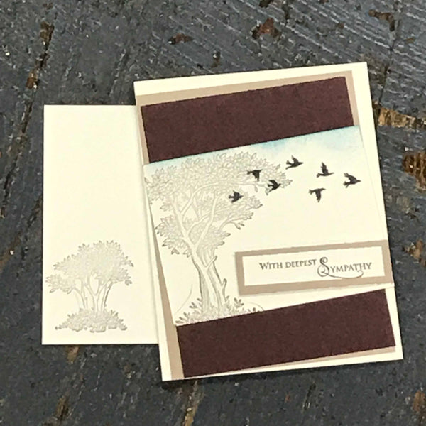 With Deepest Sympathy Doves Handmade Stampin Up Greeting Card with Envelope