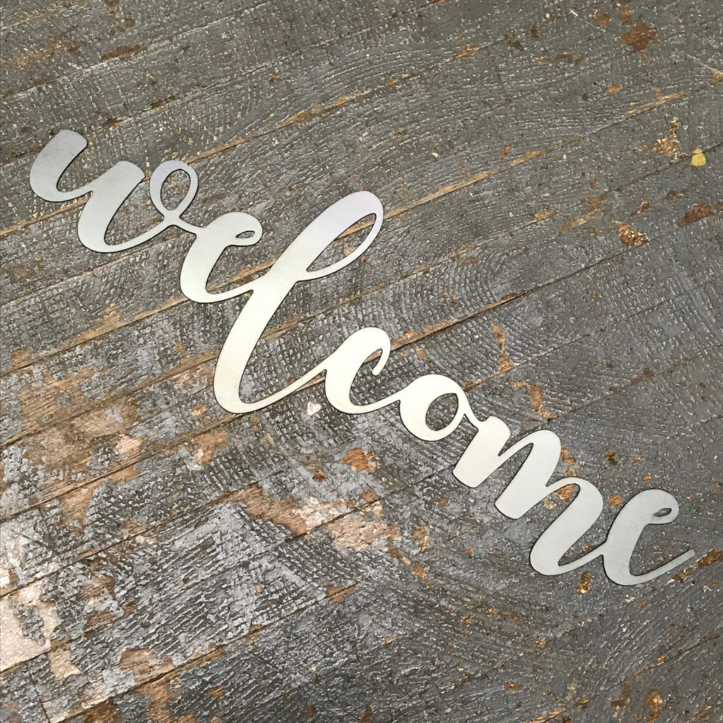 Welcome Word Metal Sign Wall Hanger
