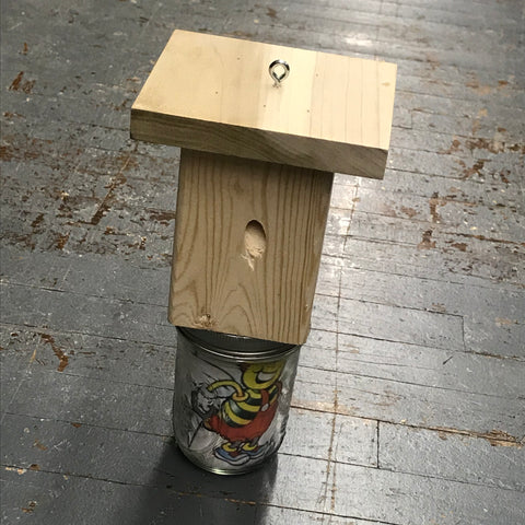 Hand Crafted Wooden Carpenter Bee Trap